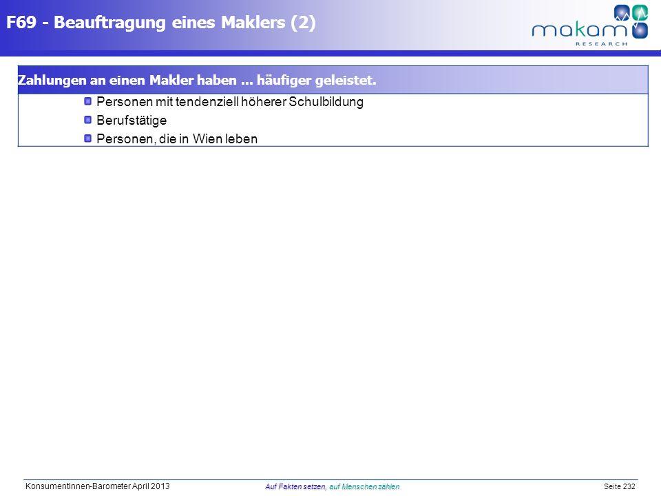 F69 - Beauftragung eines Maklers (2)