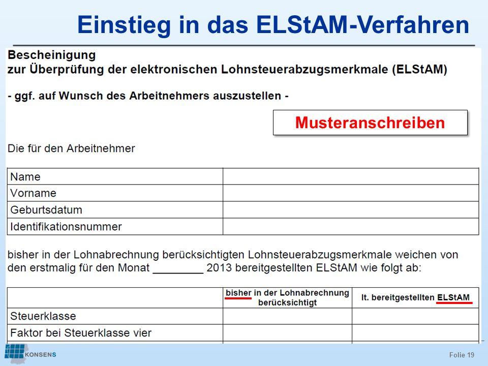 Einstieg in das ELStAM-Verfahren