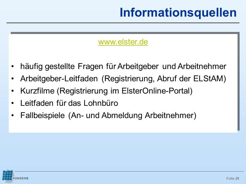 Informationsquellen www.elster.de