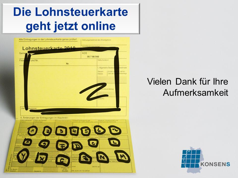 Die Lohnsteuerkarte geht jetzt online