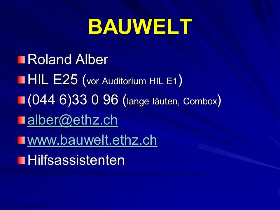 BAUWELT Roland Alber HIL E25 (vor Auditorium HIL E1)