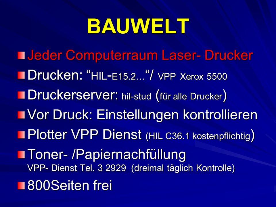 BAUWELT Jeder Computerraum Laser- Drucker