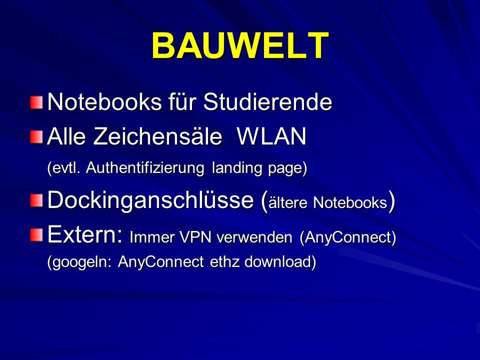 BAUWELT Notebooks für Studierende