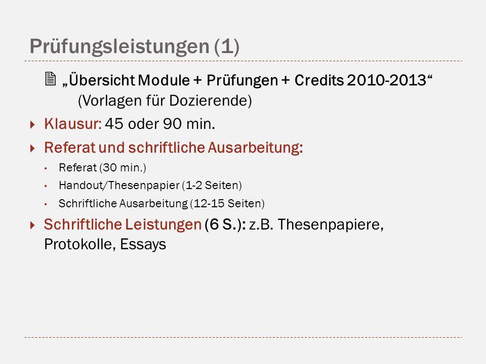 Prüfungsleistungen (1)