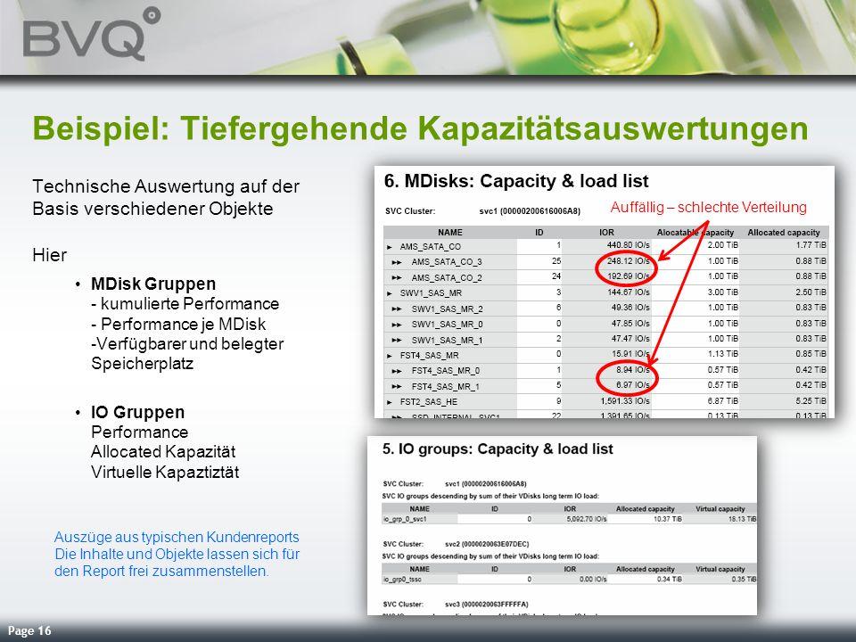 Beispiel: Tiefergehende Kapazitätsauswertungen