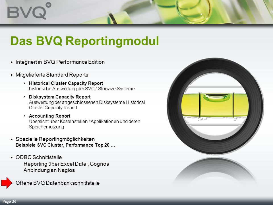 Das BVQ Reportingmodul