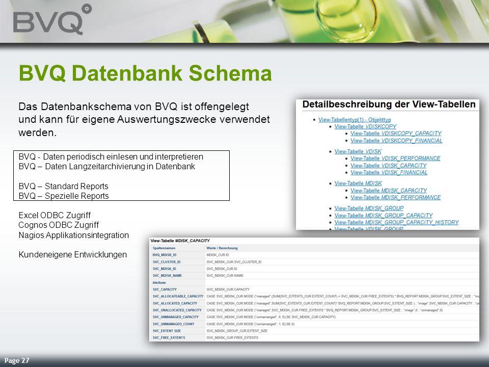 BVQ Datenbank Schema