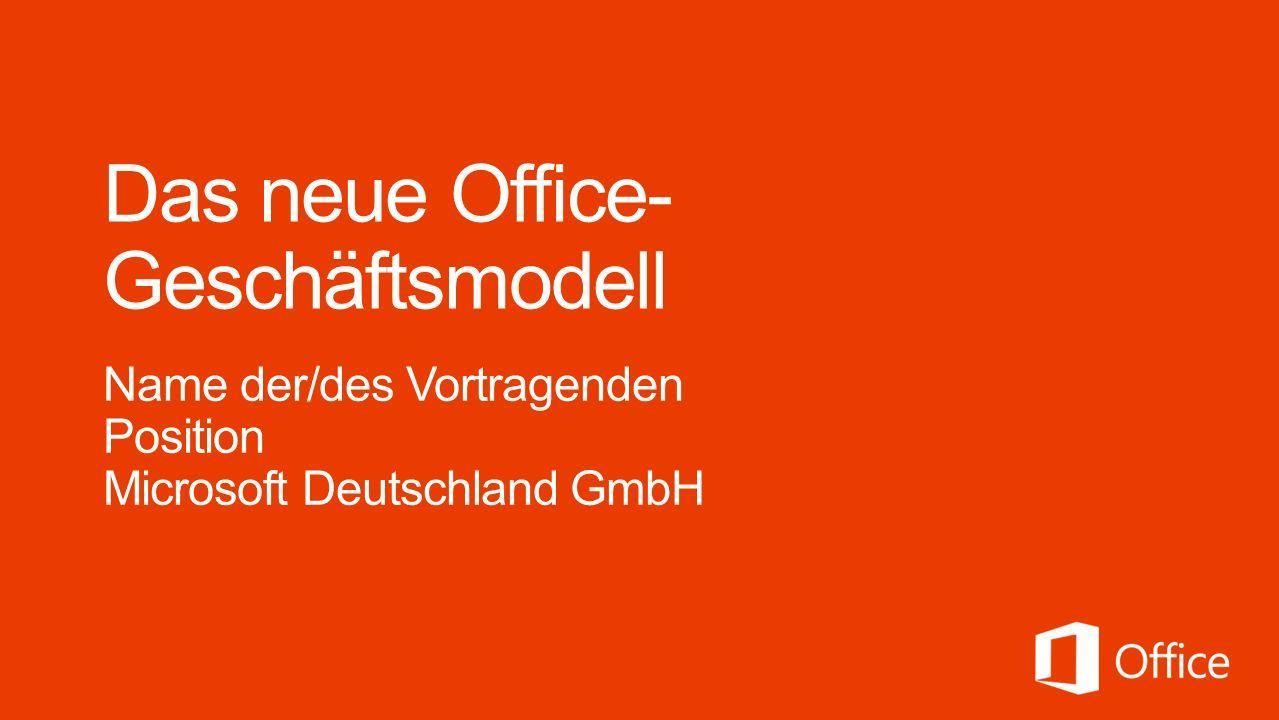 Das neue Office-Geschäftsmodell