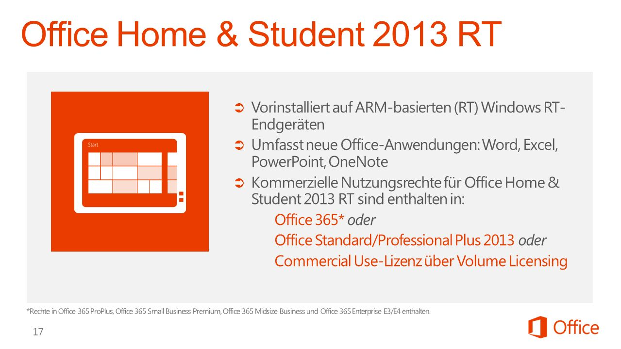 Office Home & Student 2013 RT