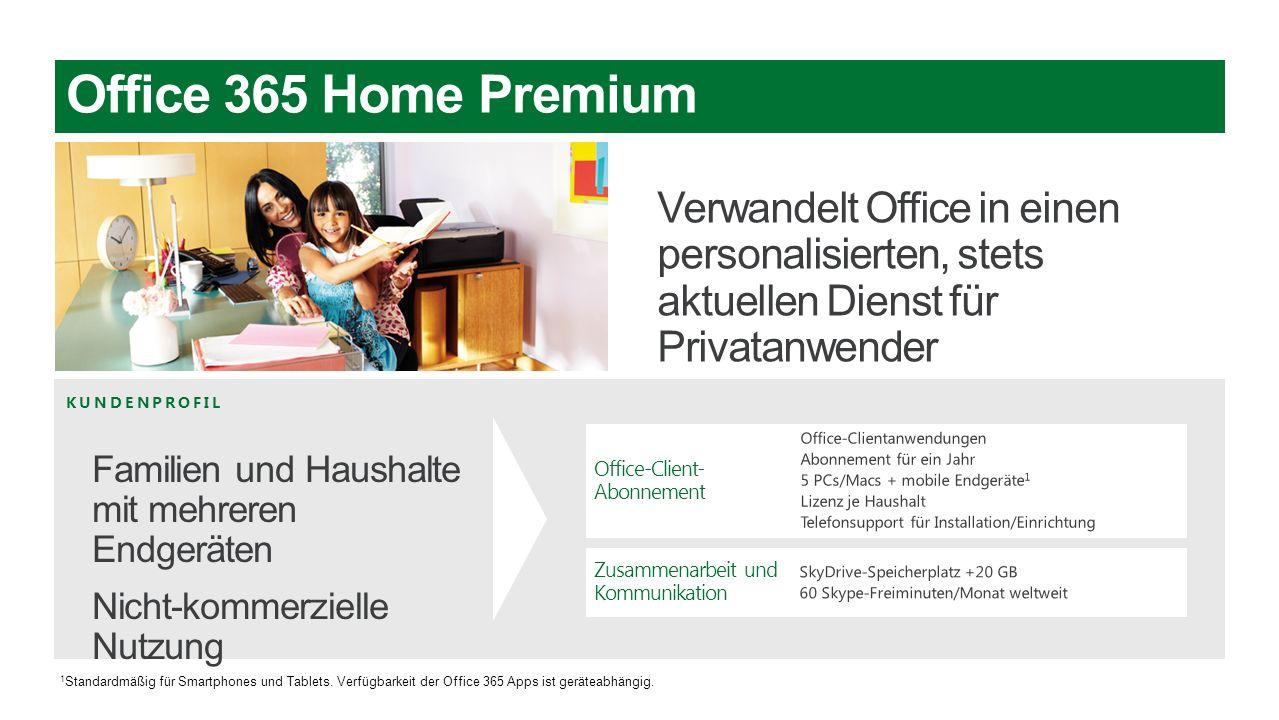 Microsoft Office3653/28/2017. Office 365 Home Premium. Verwandelt Office in einen personalisierten, stets aktuellen Dienst für Privatanwender.