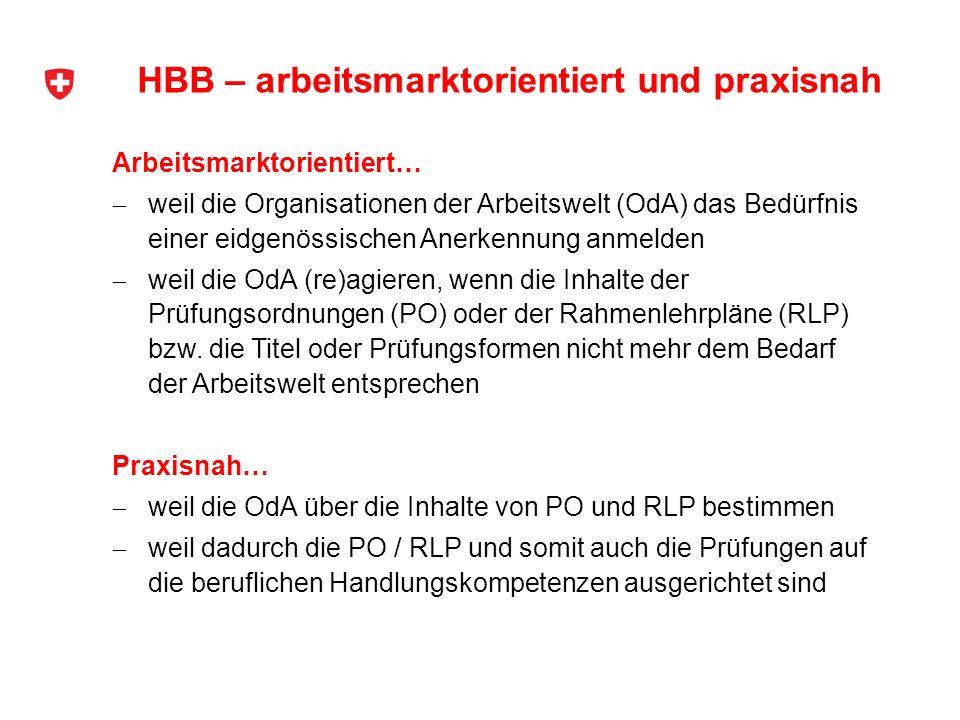 HBB – arbeitsmarktorientiert und praxisnah
