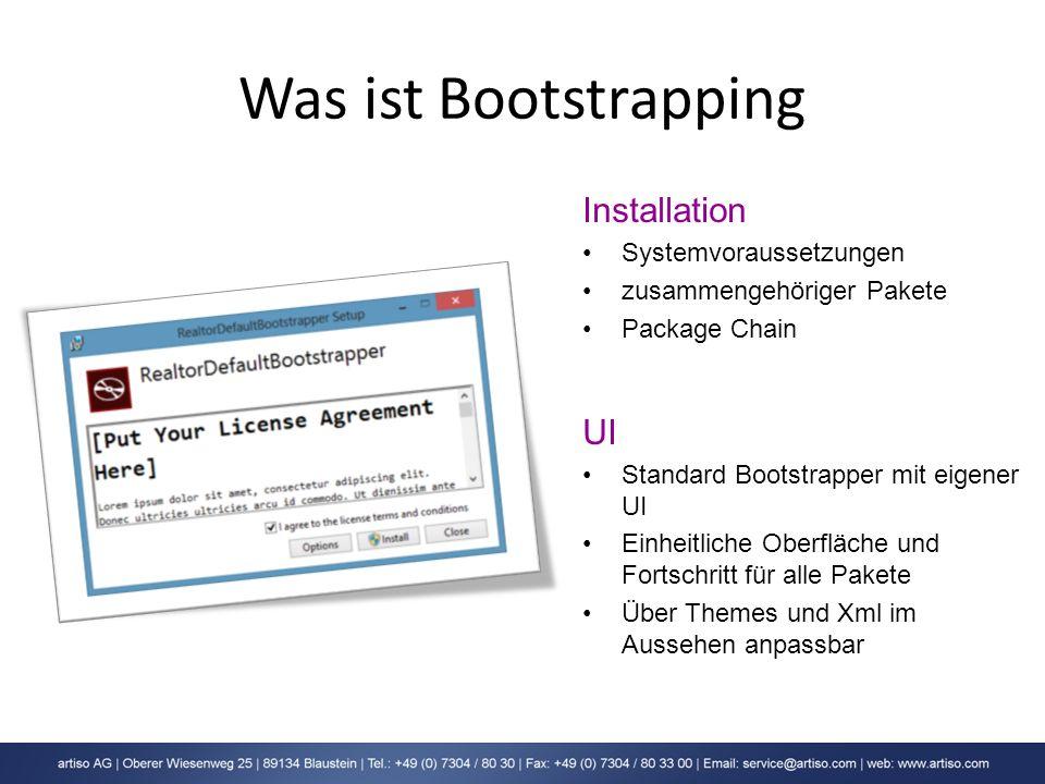Was ist Bootstrapping Installation UI Systemvoraussetzungen