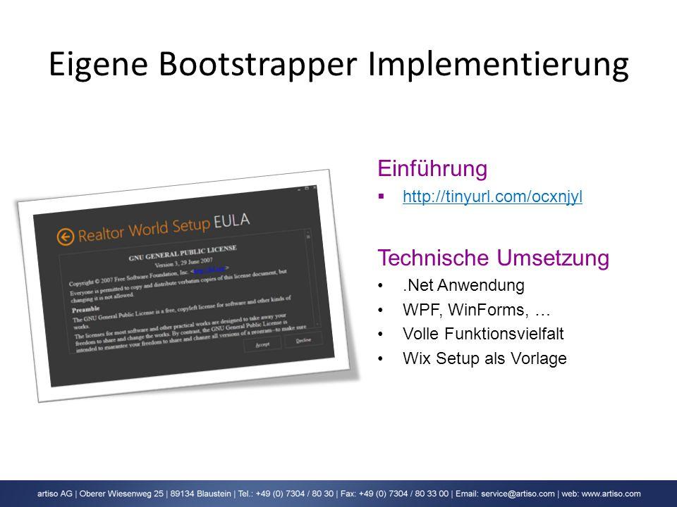 Eigene Bootstrapper Implementierung