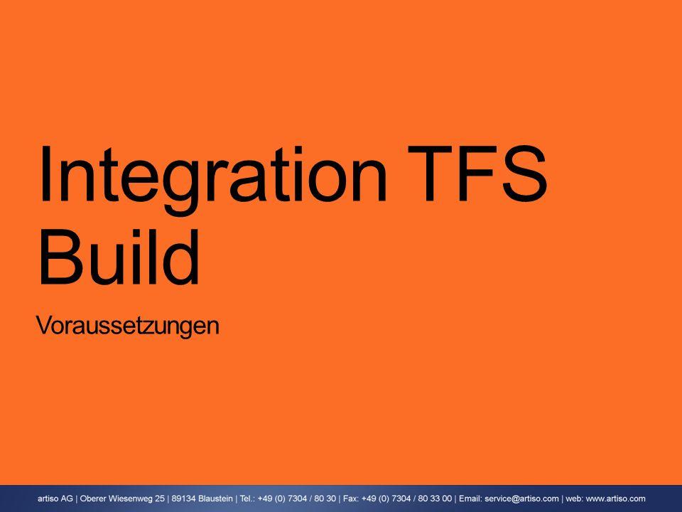 Integration TFS Build Voraussetzungen