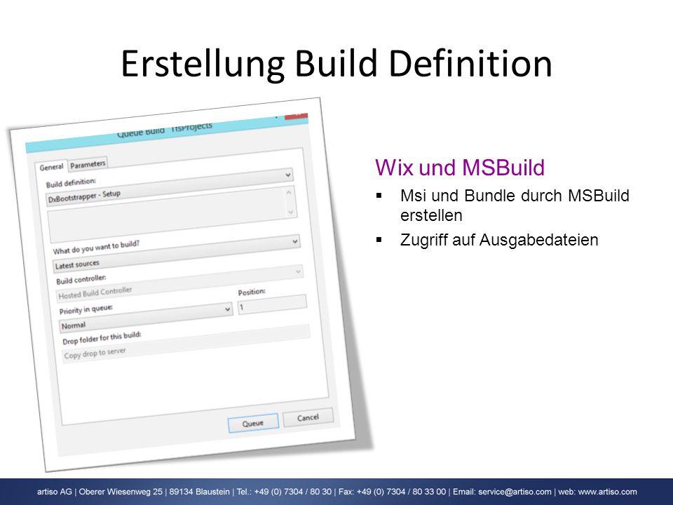 Erstellung Build Definition