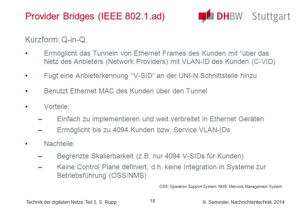 Provider Bridges (IEEE 802.1.ad)