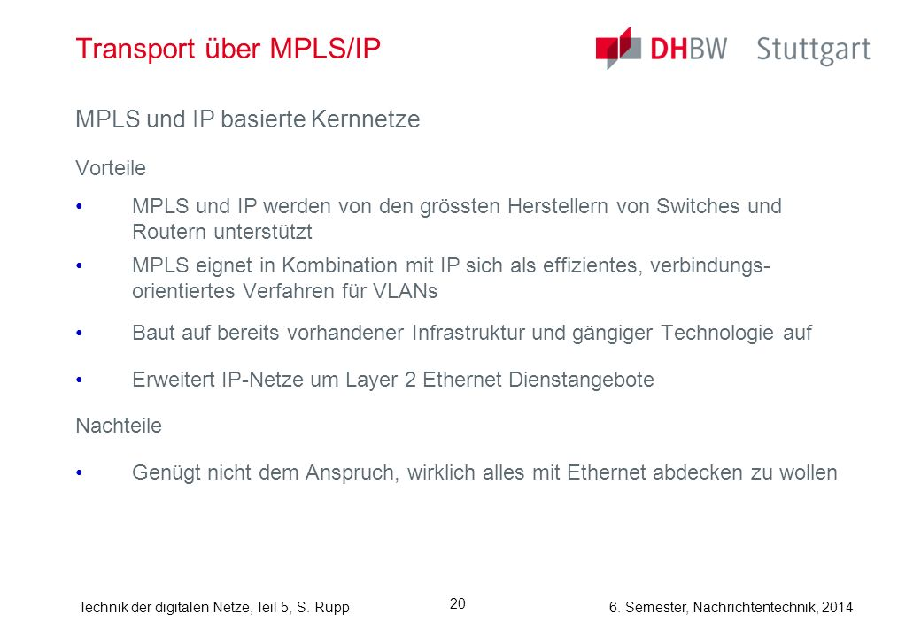 Transport über MPLS/IP