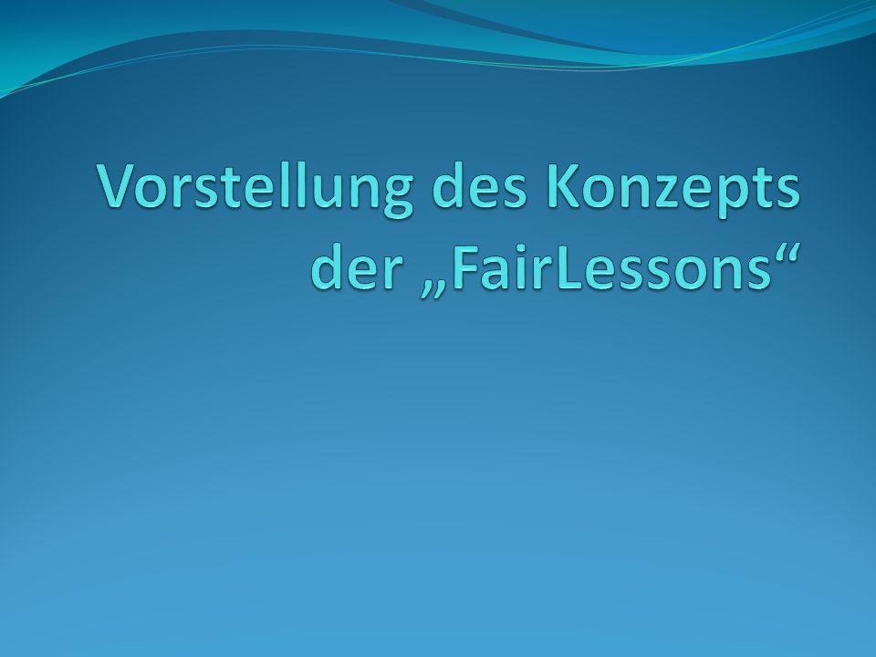 """Vorstellung des Konzepts der """"FairLessons"""