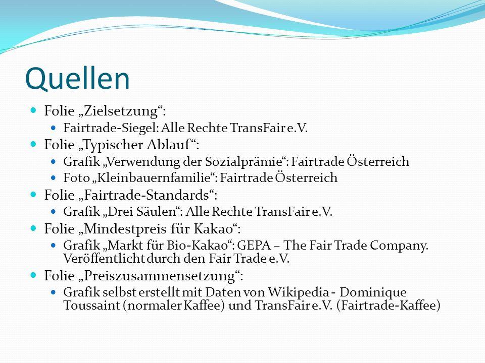 """Quellen Folie """"Zielsetzung : Folie """"Typischer Ablauf :"""