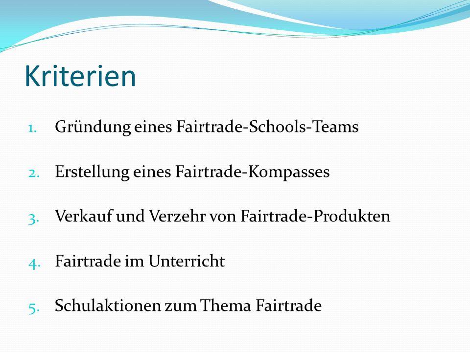 Kriterien Gründung eines Fairtrade-Schools-Teams