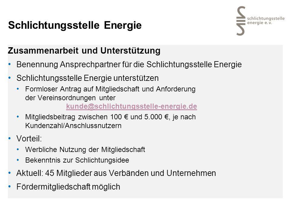 Schlichtungsstelle Energie