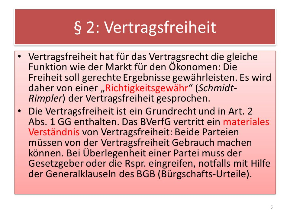 § 2: Vertragsfreiheit