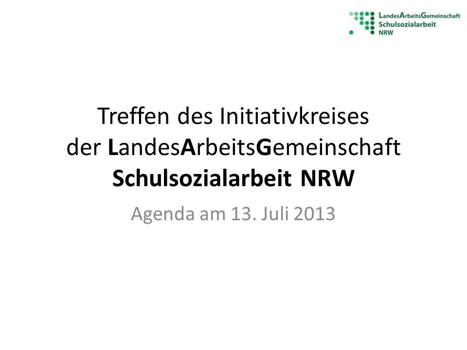 Treffen des Initiativkreises der LandesArbeitsGemeinschaft Schulsozialarbeit NRW