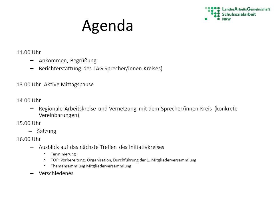 Agenda 11.00 Uhr Ankommen, Begrüßung