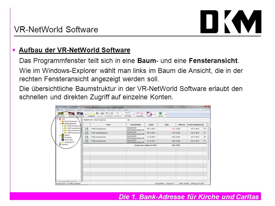 VR-NetWorld Software Aufbau der VR-NetWorld Software