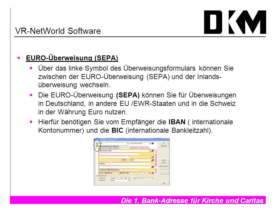 VR-NetWorld Software EURO-Überweisung (SEPA)