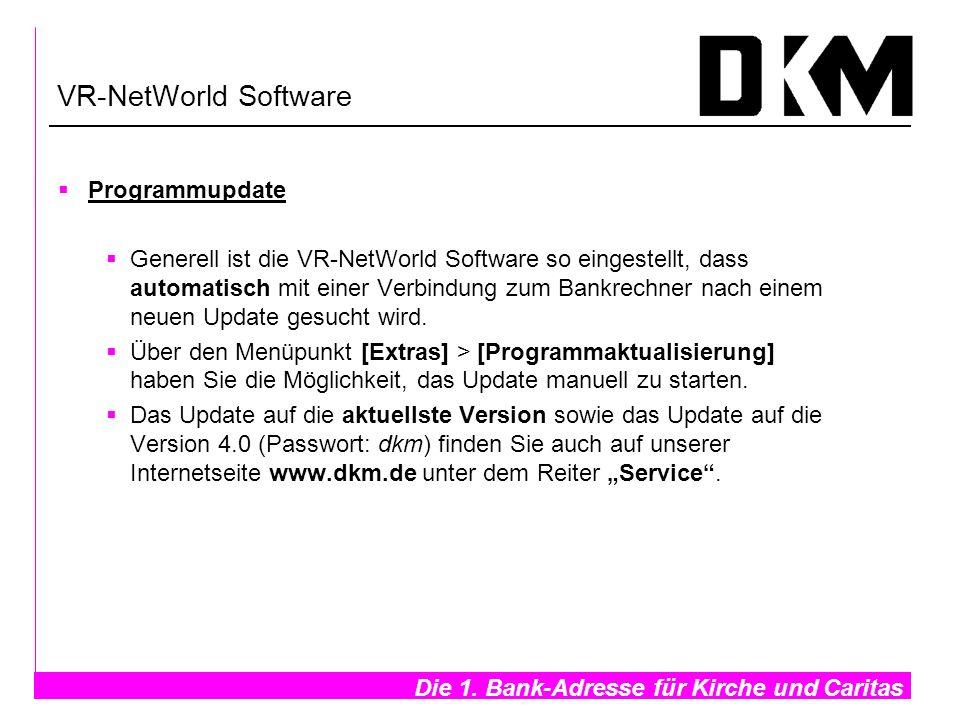 VR-NetWorld Software Programmupdate
