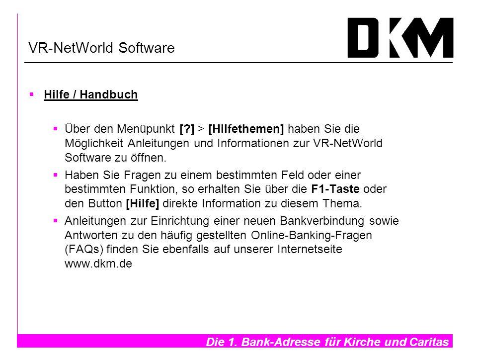 VR-NetWorld Software Hilfe / Handbuch