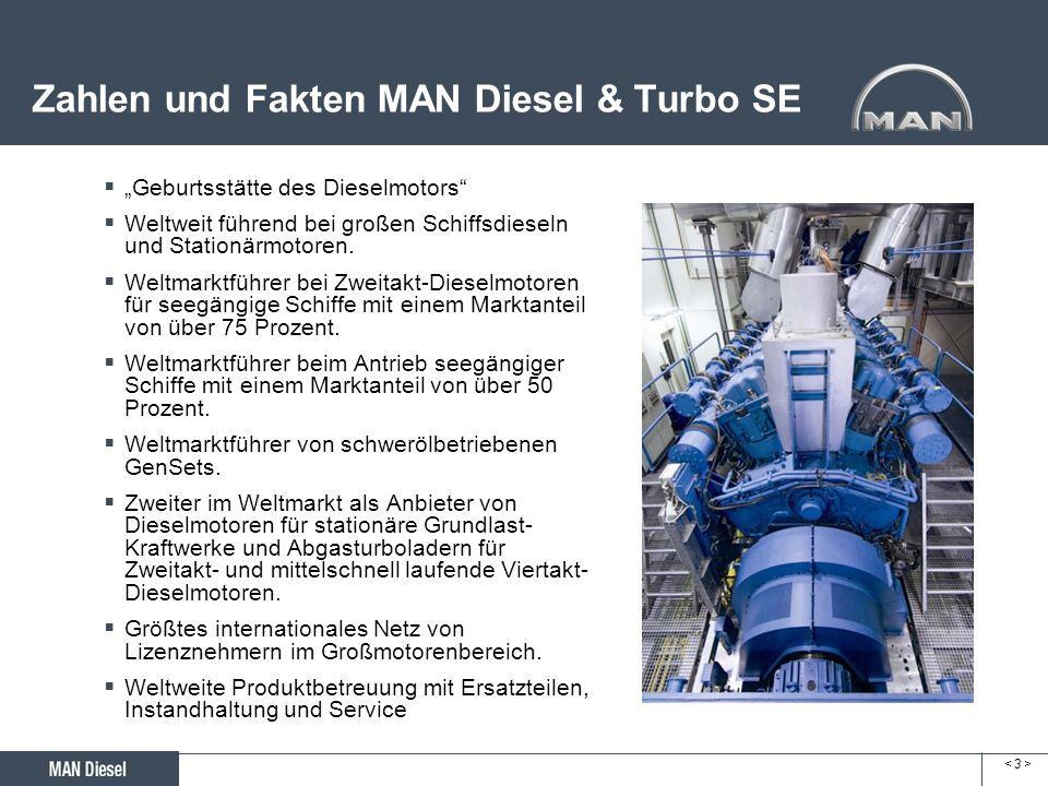 Zahlen und Fakten MAN Diesel & Turbo SE