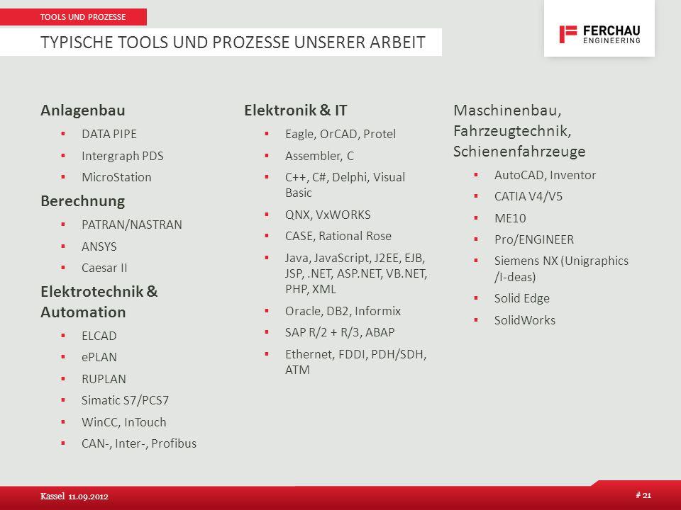 Typische Tools und Prozesse unserer Arbeit
