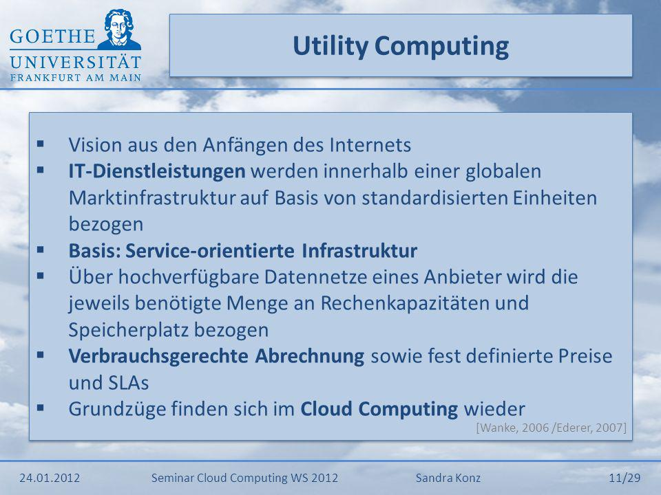 Utility Computing Vision aus den Anfängen des Internets
