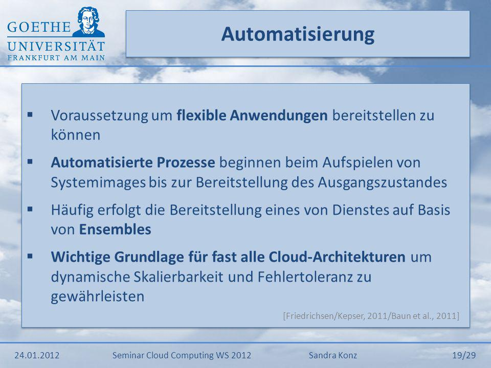 Automatisierung Voraussetzung um flexible Anwendungen bereitstellen zu können.