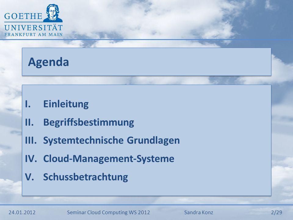 Agenda Einleitung Begriffsbestimmung Systemtechnische Grundlagen