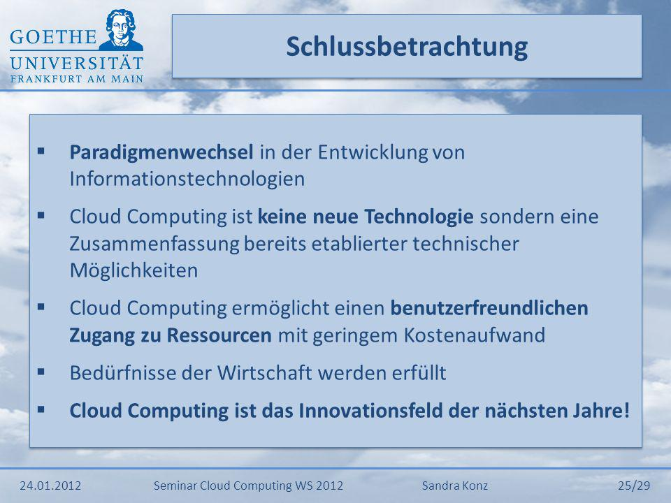 Schlussbetrachtung Paradigmenwechsel in der Entwicklung von Informationstechnologien.