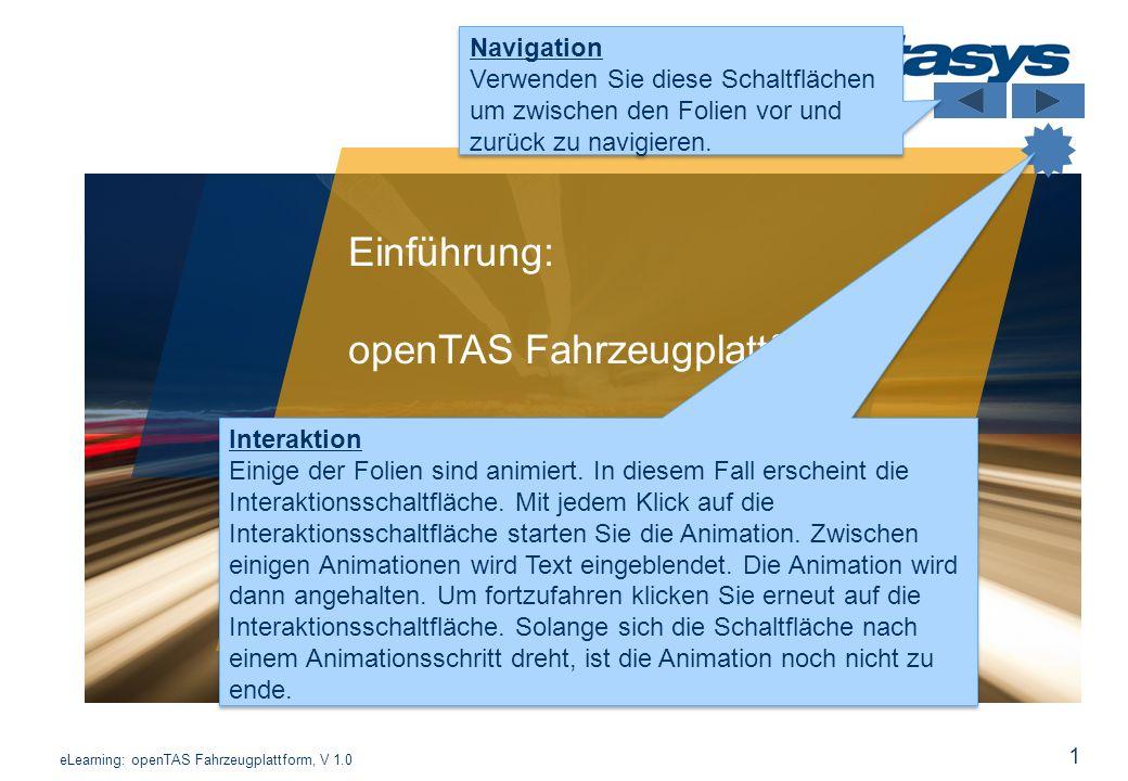 openTAS Fahrzeugplattform