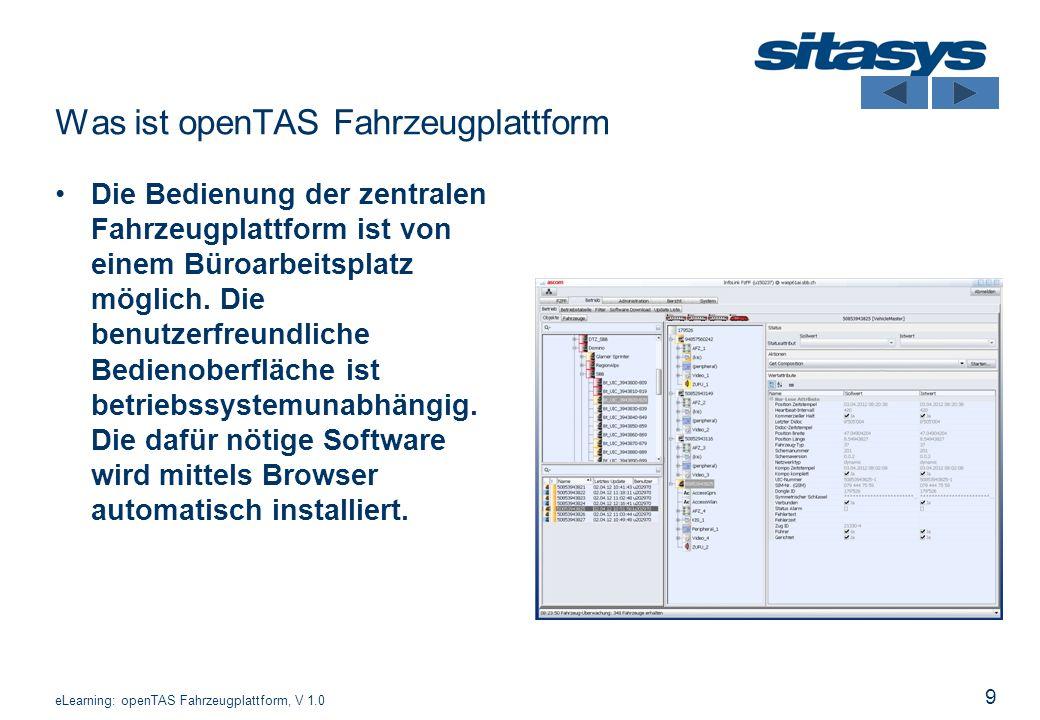 Was ist openTAS Fahrzeugplattform