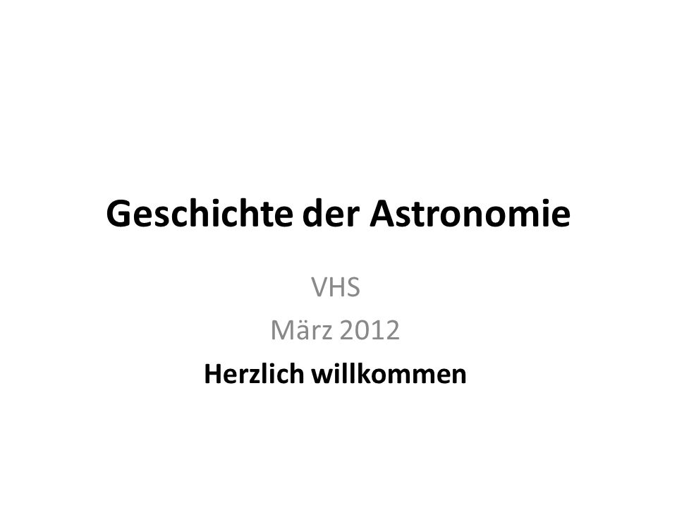Geschichte der Astronomie