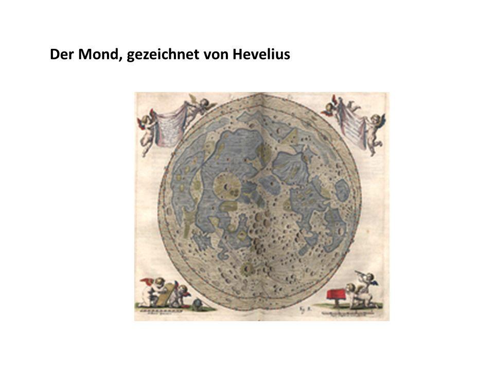 Der Mond, gezeichnet von Hevelius