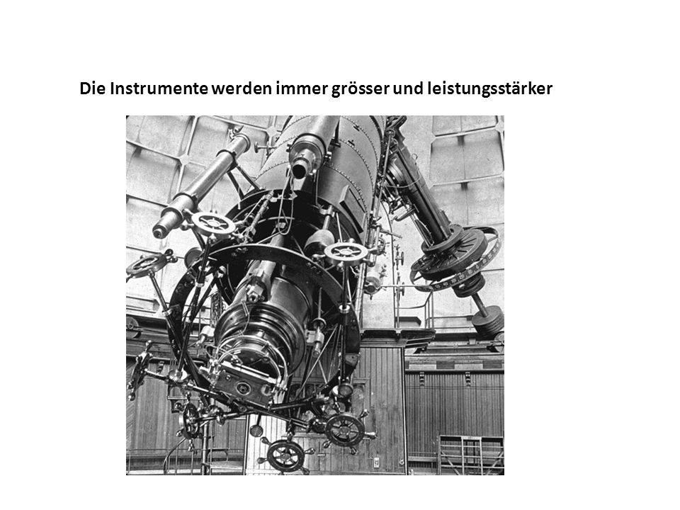 Die Instrumente werden immer grösser und leistungsstärker