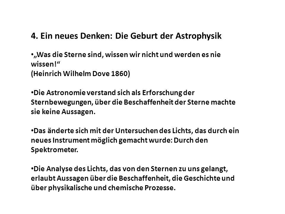 4. Ein neues Denken: Die Geburt der Astrophysik
