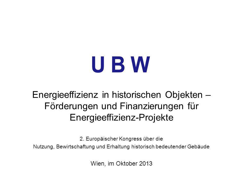 Energieeffizienz in historischen Objekten – Förderungen und Finanzierungen für Energieeffizienz-Projekte