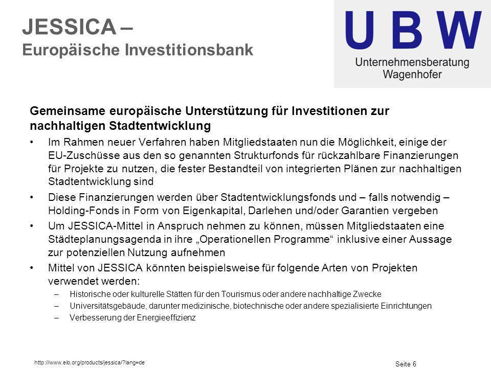 JESSICA – Europäische Investitionsbank
