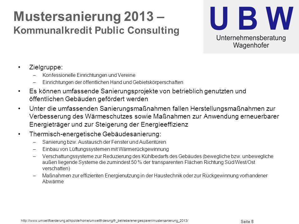Mustersanierung 2013 – Kommunalkredit Public Consulting