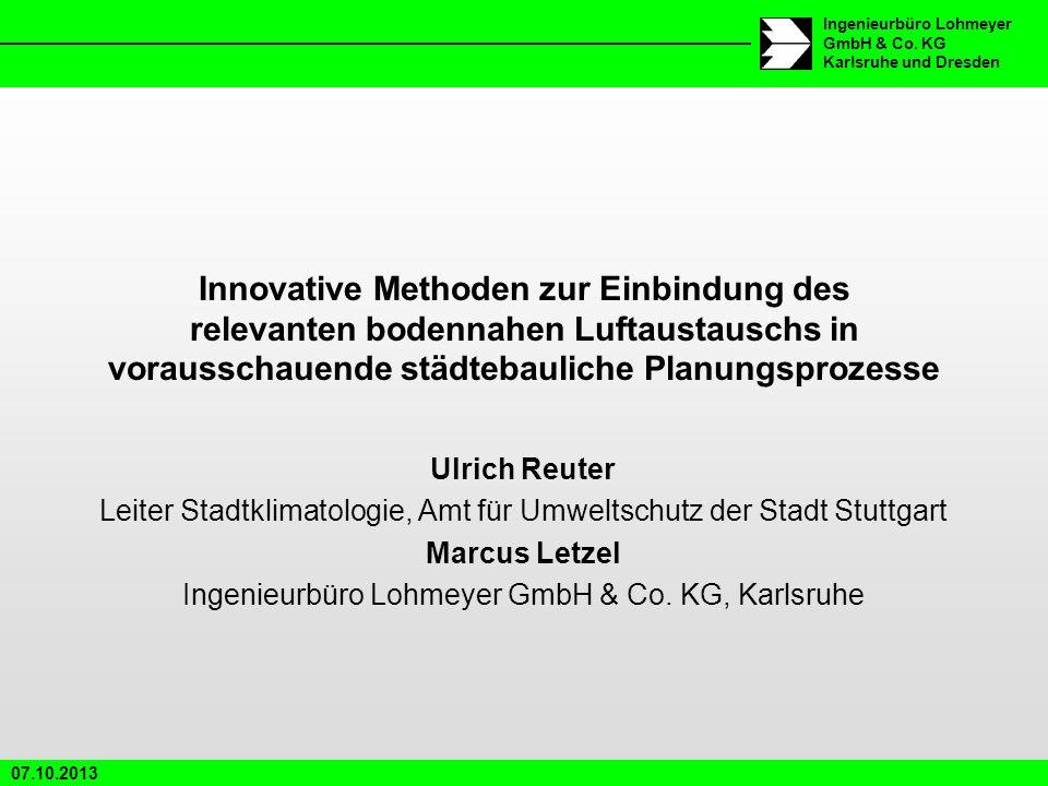Innovative Methoden zur Einbindung des relevanten bodennahen Luftaustauschs in vorausschauende städtebauliche Planungsprozesse