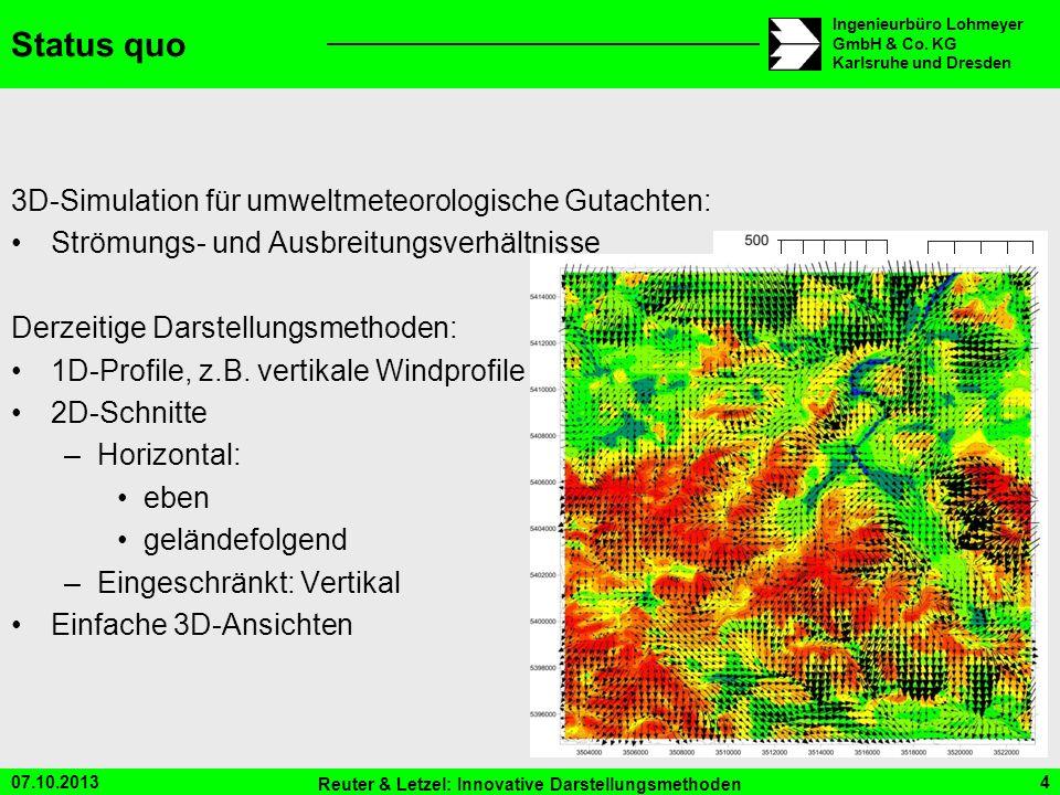Status quo 3D-Simulation für umweltmeteorologische Gutachten: