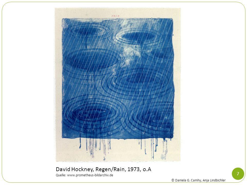 David Hockney, Regen/Rain, 1973, o.A
